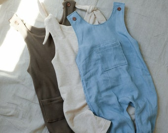 Baby Overalls Beginner Sewing Pattern | Digital Download Sewing Pattern | Rhodes Overalls
