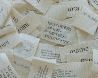 Clothing Label Tags 5-Pack | Sew In Labels For Sewing Projects | Mama and Mini sewing tags