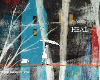 Sacredbee Postcard Heal