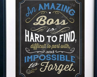A Great Boss Is Hard To Find Printable Quote Farewell Goodbye Etsy
