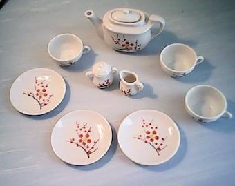 50s DOLL TEA SET Porcelain Japan 11 pc set
