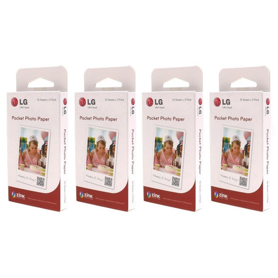 LG Pocket Photo ZINK Photo Paper for Printer PD221 PD233 PD239//150 Sheets
