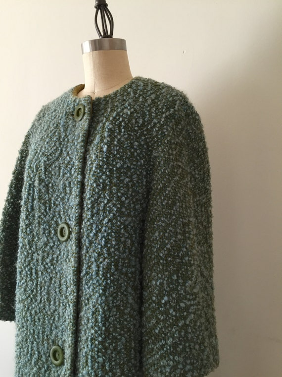 cocoon / marled knit / 1960 / cocoon coat / S / M