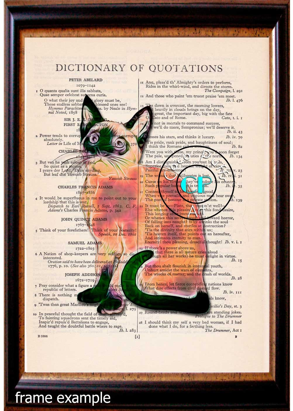 Siamese Cat Art Vintage Beautiful Book Page Art Print Upcycled Page Print    Coco Puffs Art