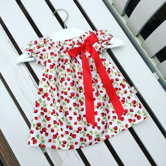 Baby Girls Red White Gingham Check Cotton Summer Trousers Age 6 Months