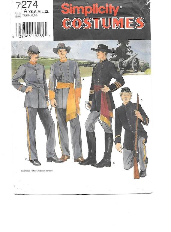 Mens CIVIL WAR Soldiers Costume Sewing Pattern ~
