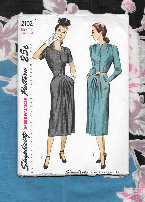 Elegant 40 Birds Pattern Summer Vintage Dresses Women Retro 40s ...