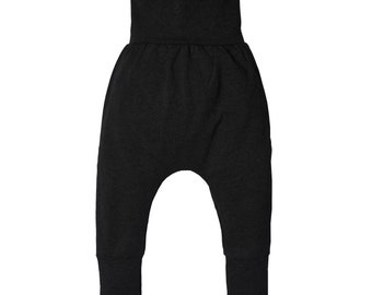 f7358859b2f01 Grow with me pants, black, unisex, harem pants, babies, toddlers, kids,  nien9clothing