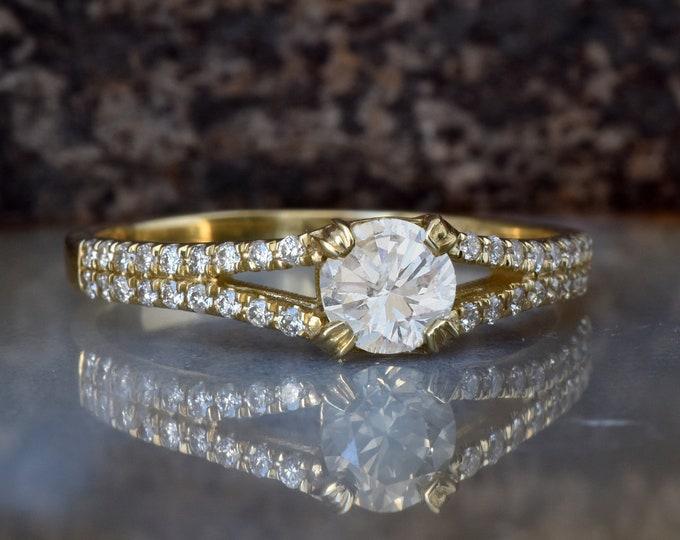 Art deco Engagement Ring-Cluster engagement ring-Diamond ring-Gold Ring -Unique diamond ring -Promise ring-Cluster diamond ring-Custom Ring