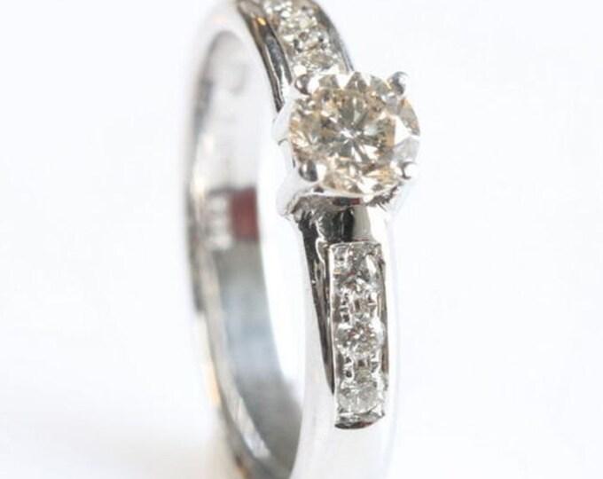 Art deco diamond Engagement Ring-Diamond engagement ring-Cluster engagement ring -Gold ring-FREE SHIPPING-Custom Ring-Promise ring-For her