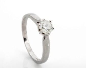 Diamond solitaire ring-Solitaire diamond engagement ring-Wedding ring-Solitaire rings-Promise ring-Wedding & Engagement-Promise ring-For her