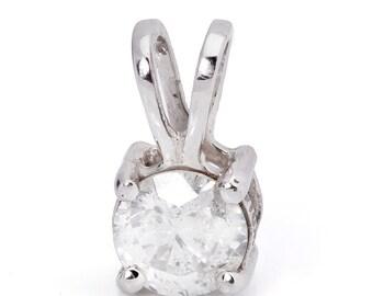 Diamond Solitaire pendant-0.3 Carats-Gold Diamond Pendant-Women Jewelry-Diamond necklace-Solitaire necklace-Graduate gift-Anniversary gift