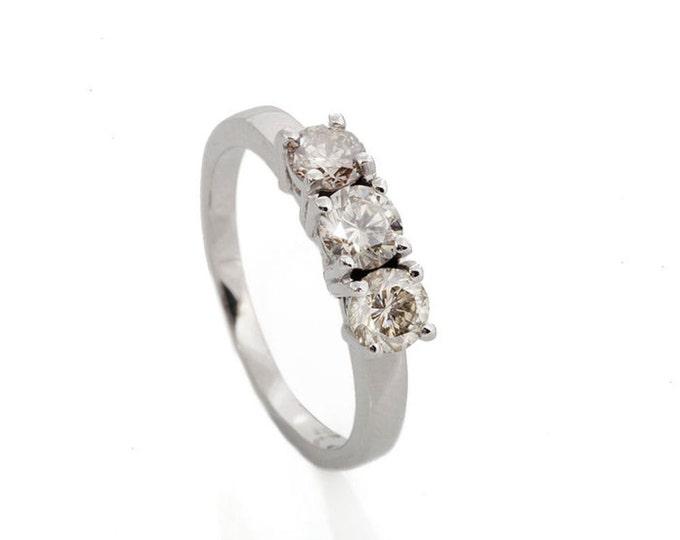 Cluster wedding band-Wedding bands white gold-0.65 ct Diamond Ring-Gold Ring-Women Jewelry-Half Eternity Diamond Band-FREE SHIPPING