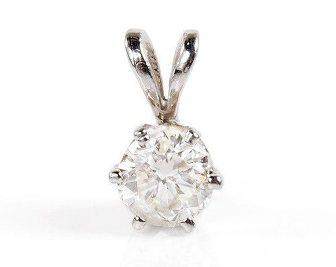 Diamond Pendant 0.4 ct-White Gold Necklace 14K-Gold Diamond Pendant-Women Jewelry-Delicate necklace-For her-Anniversary gift-Birthday gift