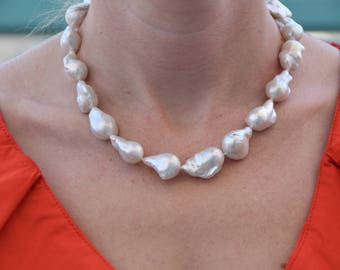 Pearl Necklace-Wedding necklace-Wedding Jewelry-Bridal Jewelry-Anniversary gift-Mothers jewelry-Gift for her-Pearl choker necklace-Pearls