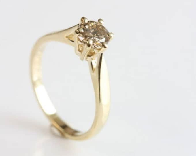 Solitaire diamond Ring 0.40 ct-Solitaire engagement ring-Promise ring-Bridal Jewelry-For her-Gold ring