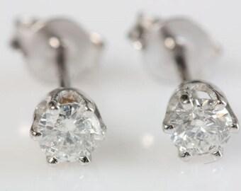 Minimalist earrings-Diamond stud earrings-Baby Earrings-Diamond Earrings-Gold Earrings-Baby girl jewelry-Graduation gift-Gift for him