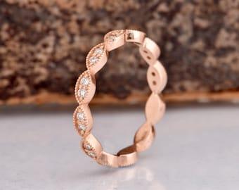 Cluster wedding band-Eternity Wedding Band-Diamond Engagement Ring-Diamond Jewelry-Diamond Band-Anniversary Gift-Half eternity Ring