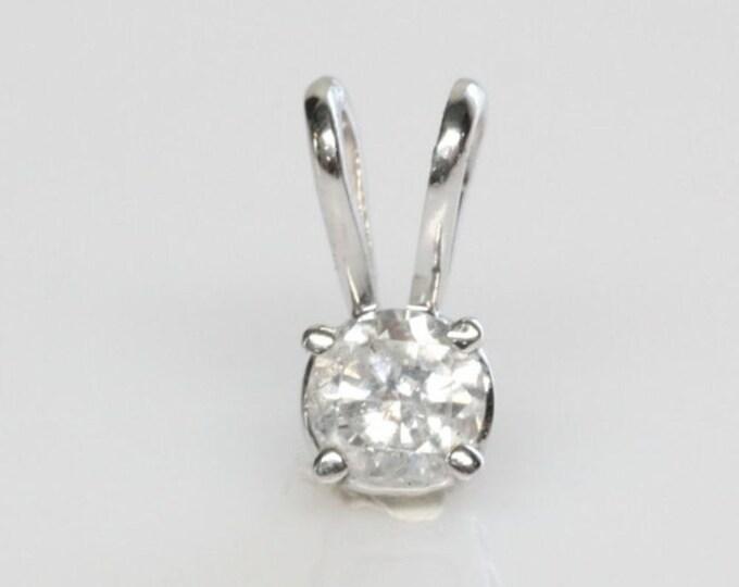 0.40 ct Diamond Necklace-White Gold Pendant-Gold Diamond Pendant-Women Jewelry-For her-Anniversary gift-Graduation gift-Minimalist pendant