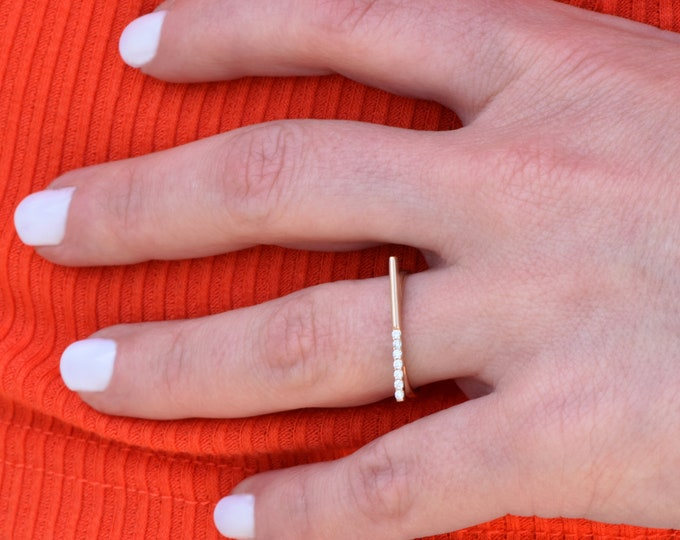 Graduation gift-Super thin rings-Minimalist rings-Rose gold ring-Stackable ring-Statement ring-Midi ring-Skinny gold ring-Birthday gift