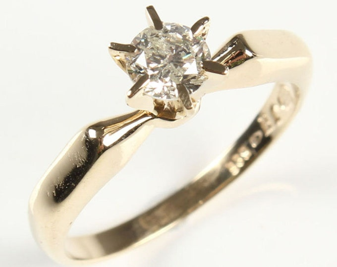 Solitaire diamond Ring 0.40 ct-Solitaire engagement ring-Wedding band-Promise ring-Bridal Jewelry-Wedding & Engagement-For her-Gold ring
