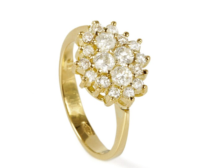 ON Sale!!! Diamond Ring 0.90 ct- Engagement ring- Art deco ring-Promised ring-Gold ring-Bridal Jeweler- Wedding & Engagement-For her ring