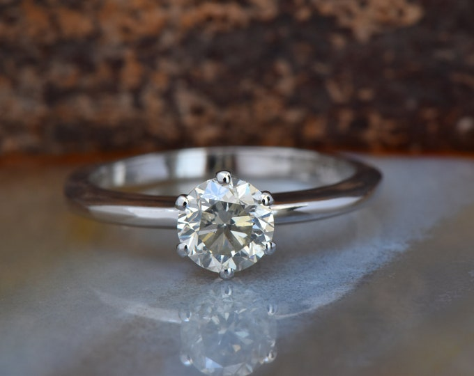 1 carat Solitaire ring-Diamond Engagement Ring-14K white Gold -Women Jewelry-Promise ring-Bridal Jewelry-Wedding&engagement