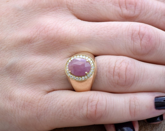 Ruby statement ring-Ruby ring-Art deco ring-Gold Ring-Women Jewelry-For her-Holidays gift-FREE SHIPPING-Fashion ring-Ruby stackable ring