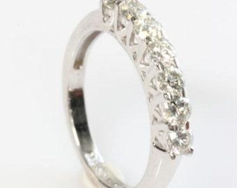 1/2 carat Eternity wedding band-Diamond wedding band- Art deco ring- Anniversary present- Celtic wedding band-Celtic engagement ring-For her