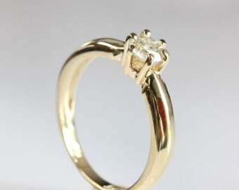 Solitaire Ring-Diamond Engagement Ring-Yellow Gold ring-Promise ring -Solitaire engagement ring-For her jewelry- 1/2 ct solitaire ring