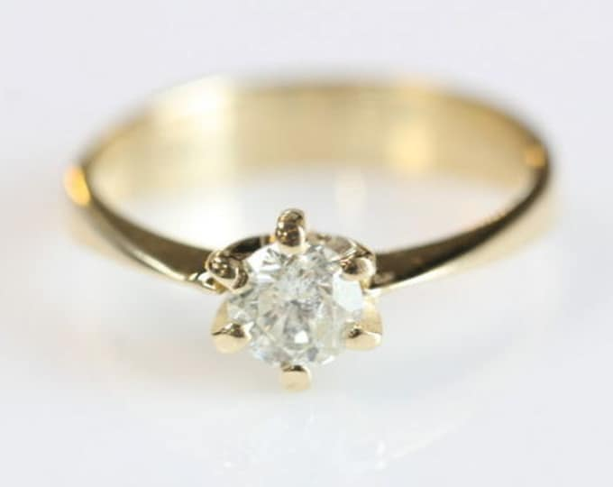 Solitaire diamond ring -0.40 ct Diamond Engagement Ring-Solitaire ring-Gold Ring -Women Jewelry-Promise ring-For her-Wedding & Engagement