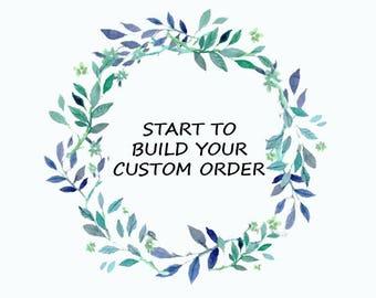 Custom ring-Custom jewelry-Moissanite ring- Diamond Rings-Cluster ring-Emerald-Sapphire-Custom order jewelry-Promise ring-Personalized gift