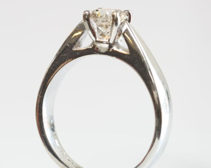 Solitaire ring-Diamond Engagement Ring 1/2 carat-Gold Ring-Women Jewelry-Diamond 0.50ct Promise ring-Solitaire diamond ring-Bridal ring