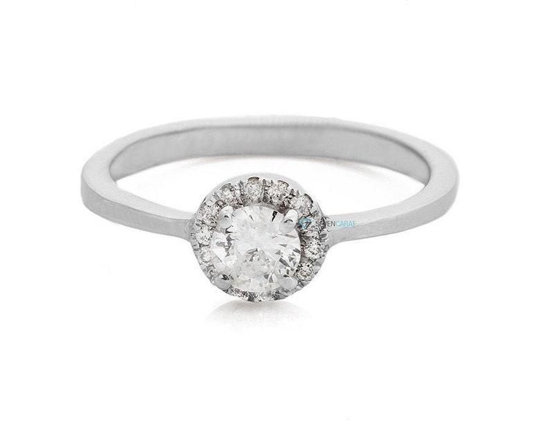 Halo wedding ring-Engagement Ring-Diamond Engagement image 1