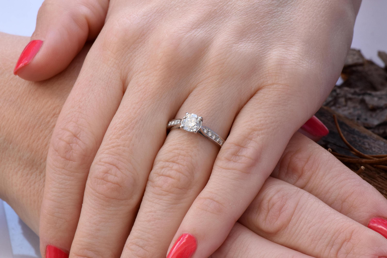 ON SALE 1 carat diamond ring !!!White Gold Engagement Ring -Diamond ...