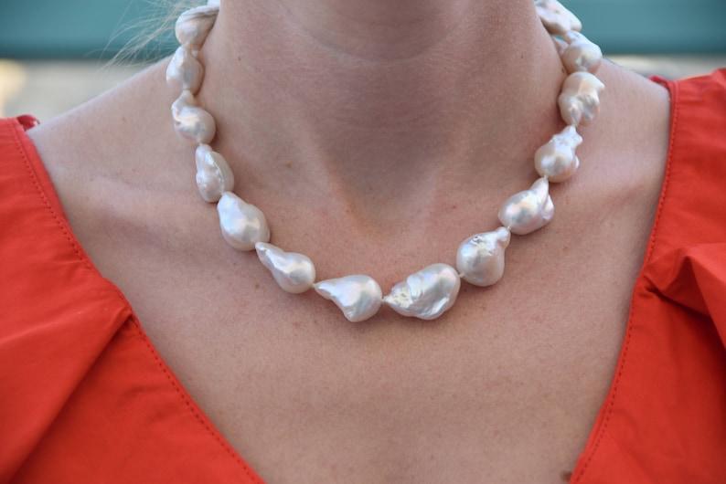 Pearl Necklace-Wedding necklace-Wedding Jewelry-Bridal image 0