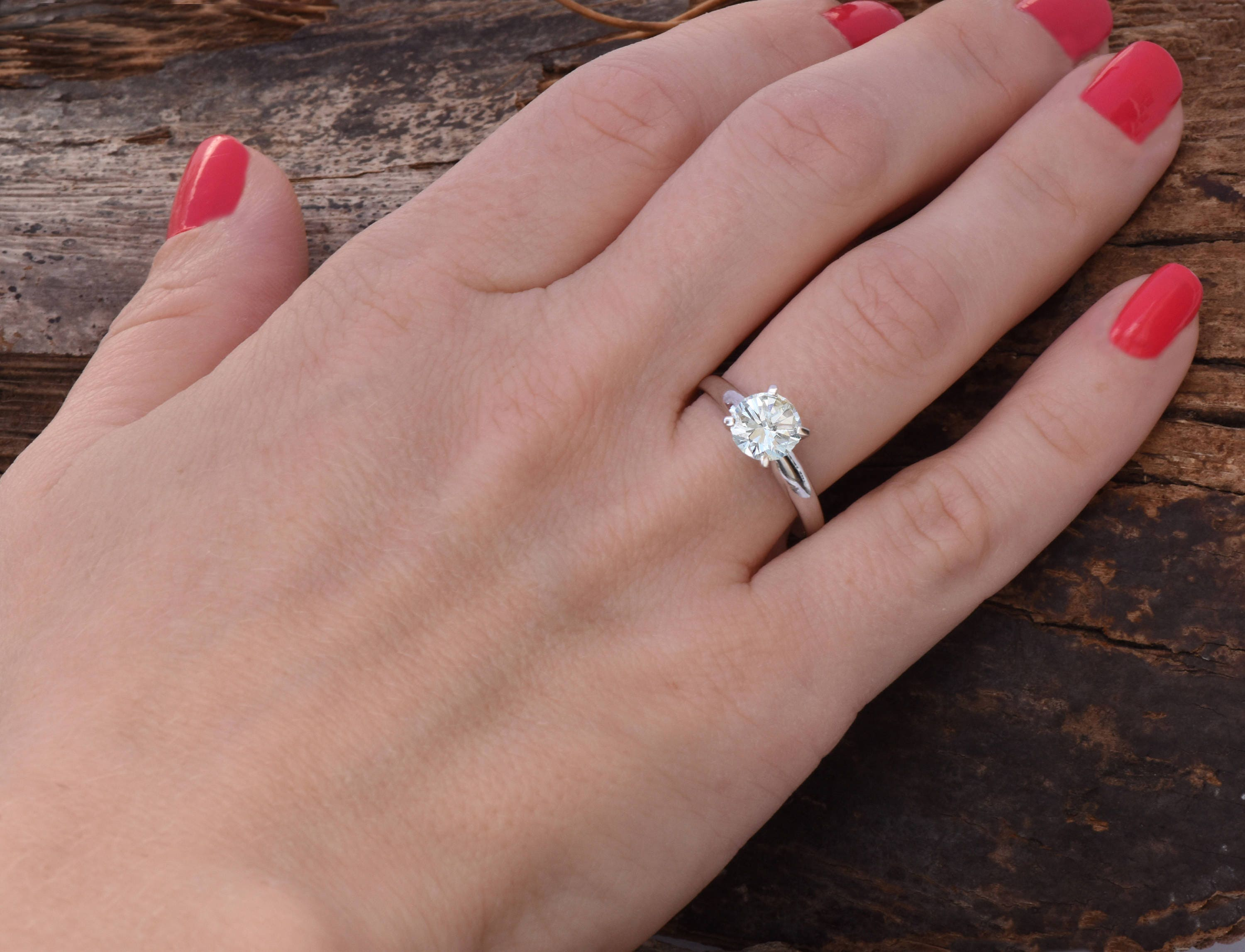 Solitaire ring 1 carat-Diamond Engagement Ring-Diamond Solitaire ...