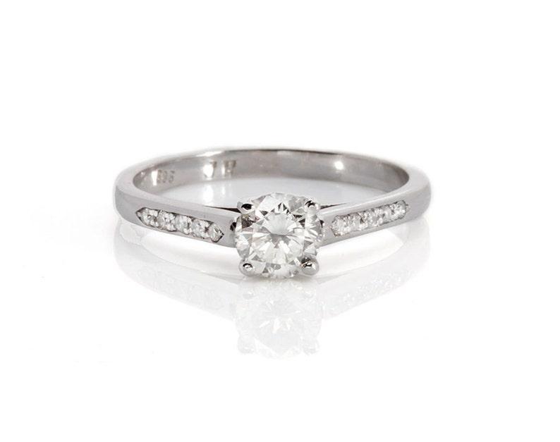 Engagement Diamond Ring 1/2 carat-Solitaire diamond ring-14K image 0