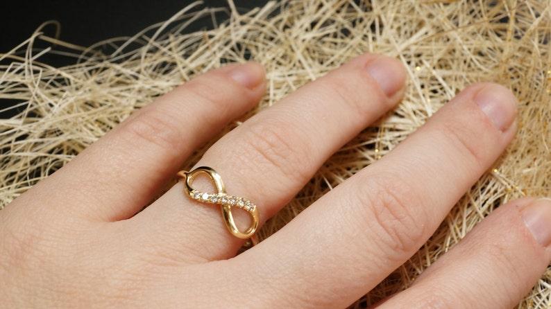 Diamond Engagement Ring Diamond Infinity Ring   14k gold image 1