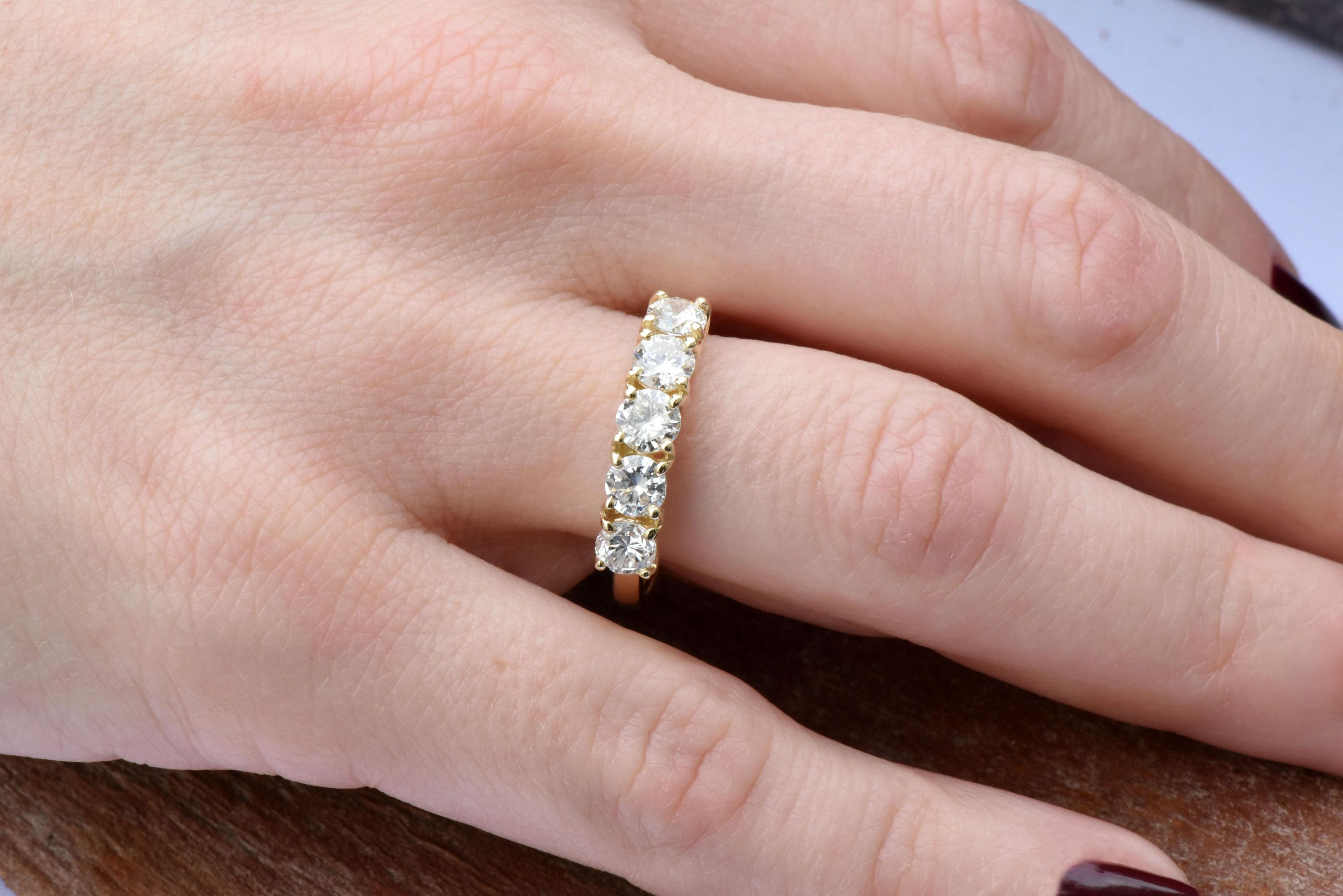 1 carat Diamond Eternity Band-Wedding band-Diamond Band-Anniversary ...