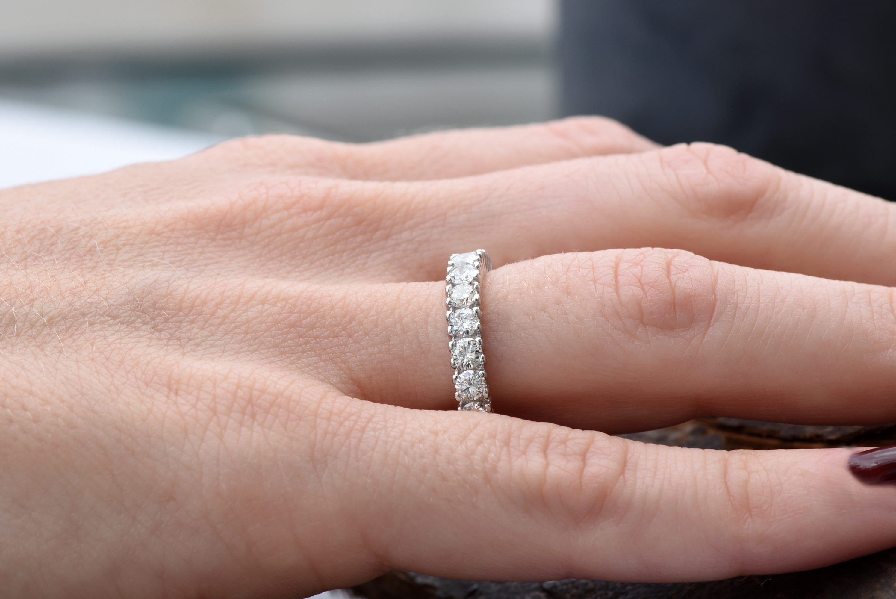 Cluster wedding band-Eternity Wedding Band-Diamond ring-Diamond Band ...