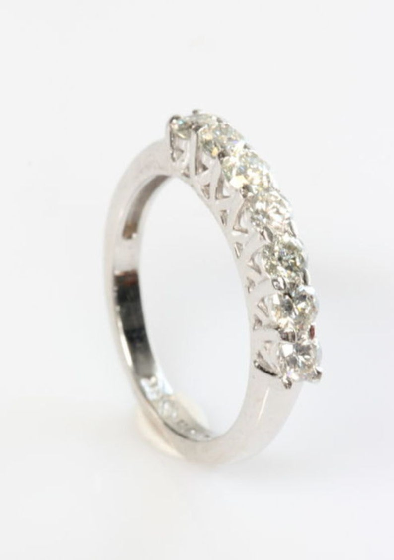 be1dd0614b39 1 2 carat Eternity wedding band-Diamond wedding band Art deco