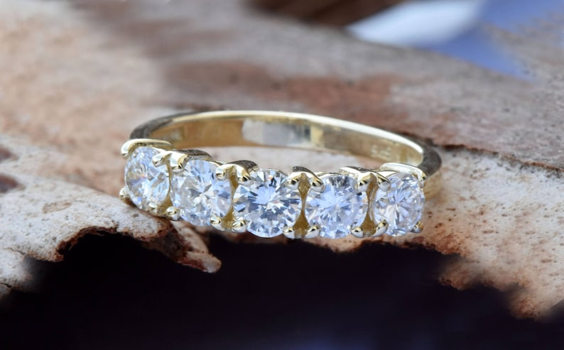 1 carat Diamond Eternity Band-Wedding band-Diamond image 0