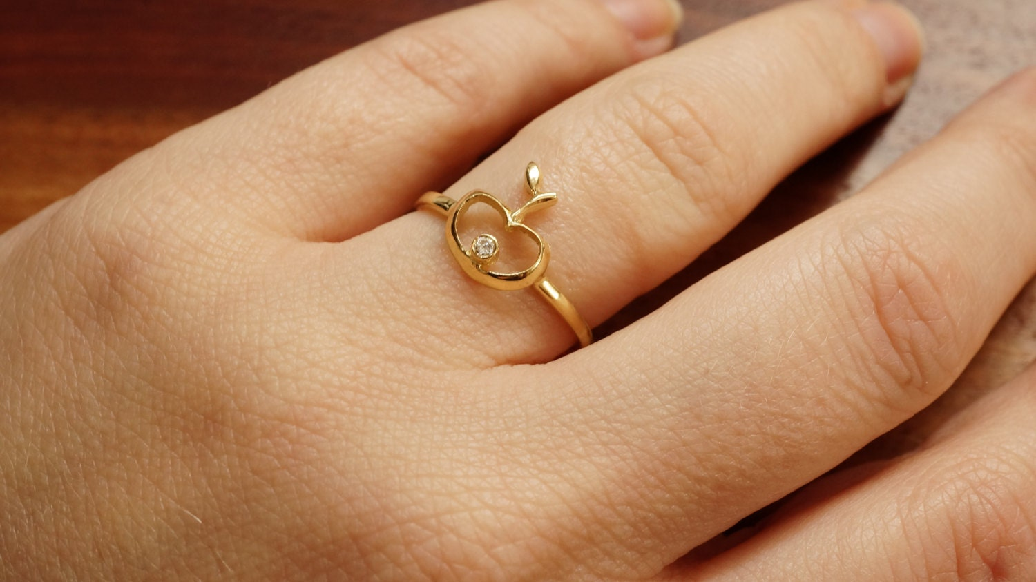 flower gold unique ring engagement wedding rings