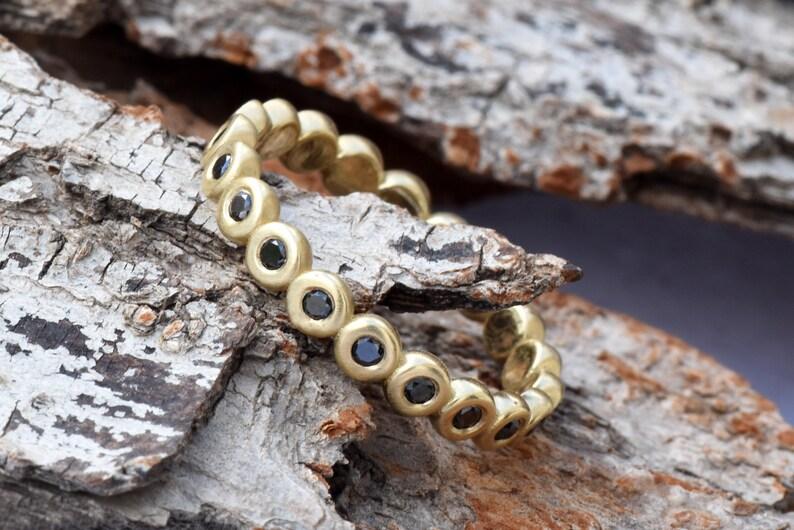 Wedding band-Yellow Gold Diamond Ring-Yellow Gold image 0