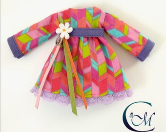 Peace & Love-Blythe hippie dress