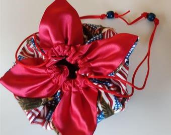 Medium American Patriotic Lotus Bag