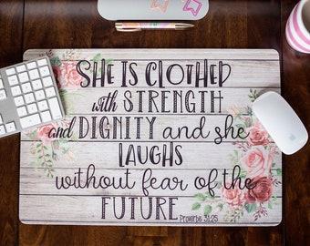 Desk pad etsy desk mat proverbs 3125 scripture desk decor bible verse rustic decor mouse pad desk pad gumiabroncs Choice Image