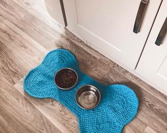 Doggy Placemat - Food Bowl Mat - Crochet Pattern - Bone-Shaped
