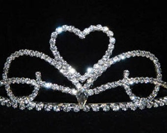 Style # 15842 - Heart Waves Tiara Comb